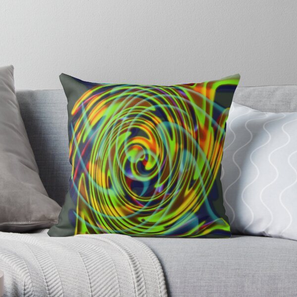 The whirl of life, w5.2d Throw Pillow