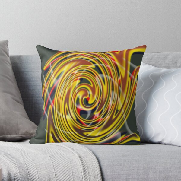 The whirl of life, w5.2c Throw Pillow