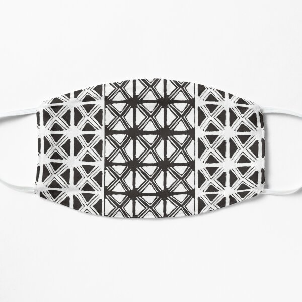 B&W Tribal #redbubble #tribal  Mask