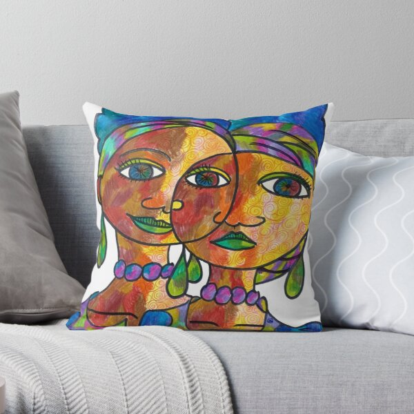 Twins and loving it Throw Pillow