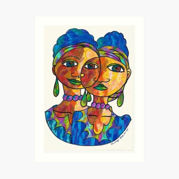 Twins and loving it Art Print