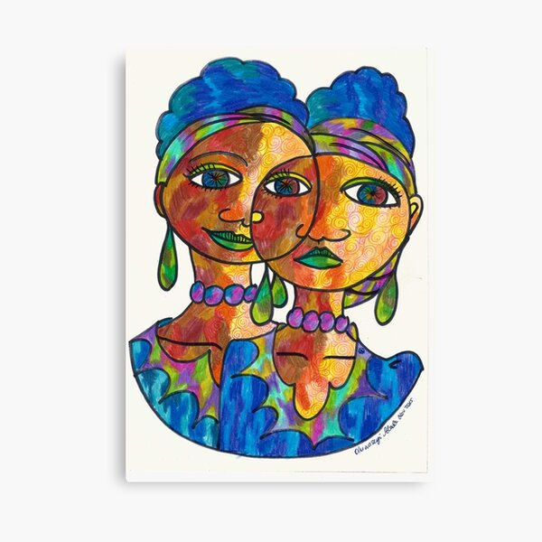 Twins and loving it Canvas Print