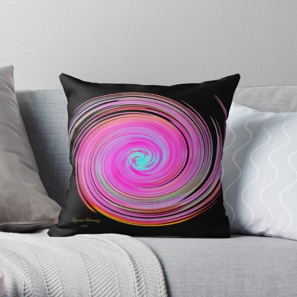 The whirl of life, w16.2b Throw Pillow
