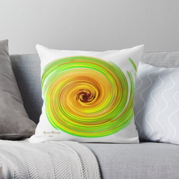 The whirl of life, w16.1a Throw Pillow