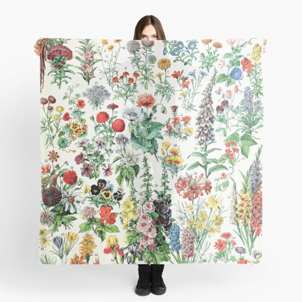 Adolphe Millot - Fleurs A - French vintage poster Scarf