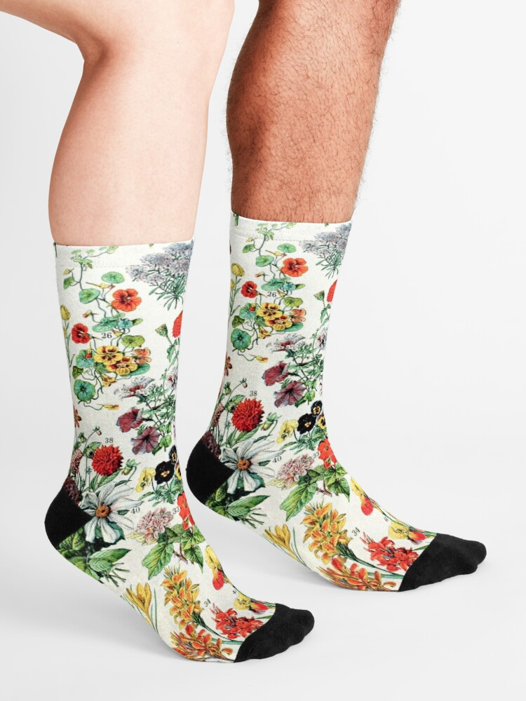 Alternate view of Adolphe Millot - Fleurs A - French vintage poster Socks