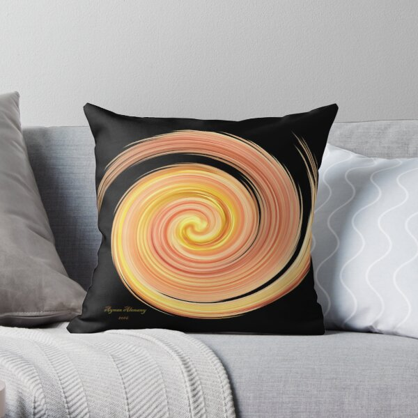 The whirl of life, w15.1b Throw Pillow
