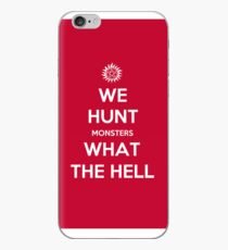 We Hunt Monsters What The Hell iPhone Case