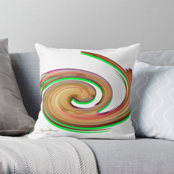 The whirl of life, w13.1a Throw Pillow
