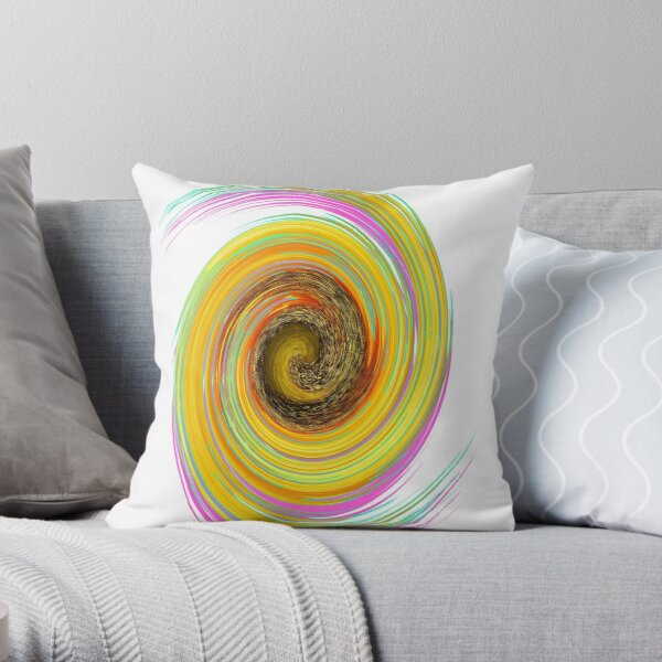 The whirl of life, w7.2a Throw Pillow