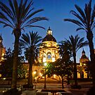 Pasadena City Hall at Dusk by Benjamin Curtis