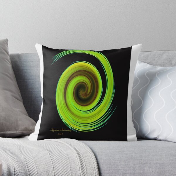 The whirl of life, w6.1b Throw Pillow
