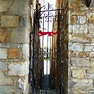 Gate on little side street in Middleburg, Hunt-Country-VA by Bine