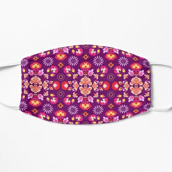 Fiesta Folk Purple #redbubble #folk Mask