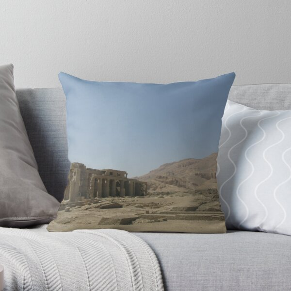 The Temple Of Ramesseum 9 Throw Pillow