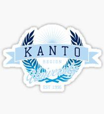 Kanto Region University_Dark BG Sticker