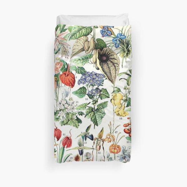 Adolphe Millot - Fleurs D - French vintage poster Duvet Cover