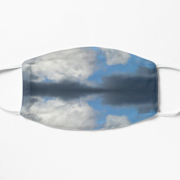 Reflection of fluffy Cumulus clouds in blue sky Mask