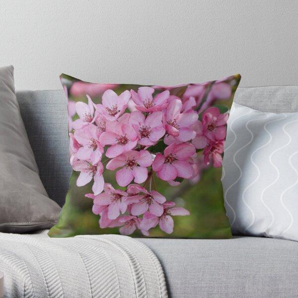 Spring Time Cherry Blossom Throw Pillow