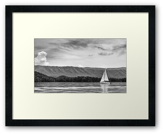 Sailing in Black and White by Greg Booher