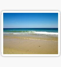 Ocean beach on a clear day Sticker