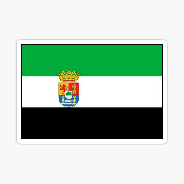Regalos, pegatinas y otros productos de la bandera de Extremadura Pegatina