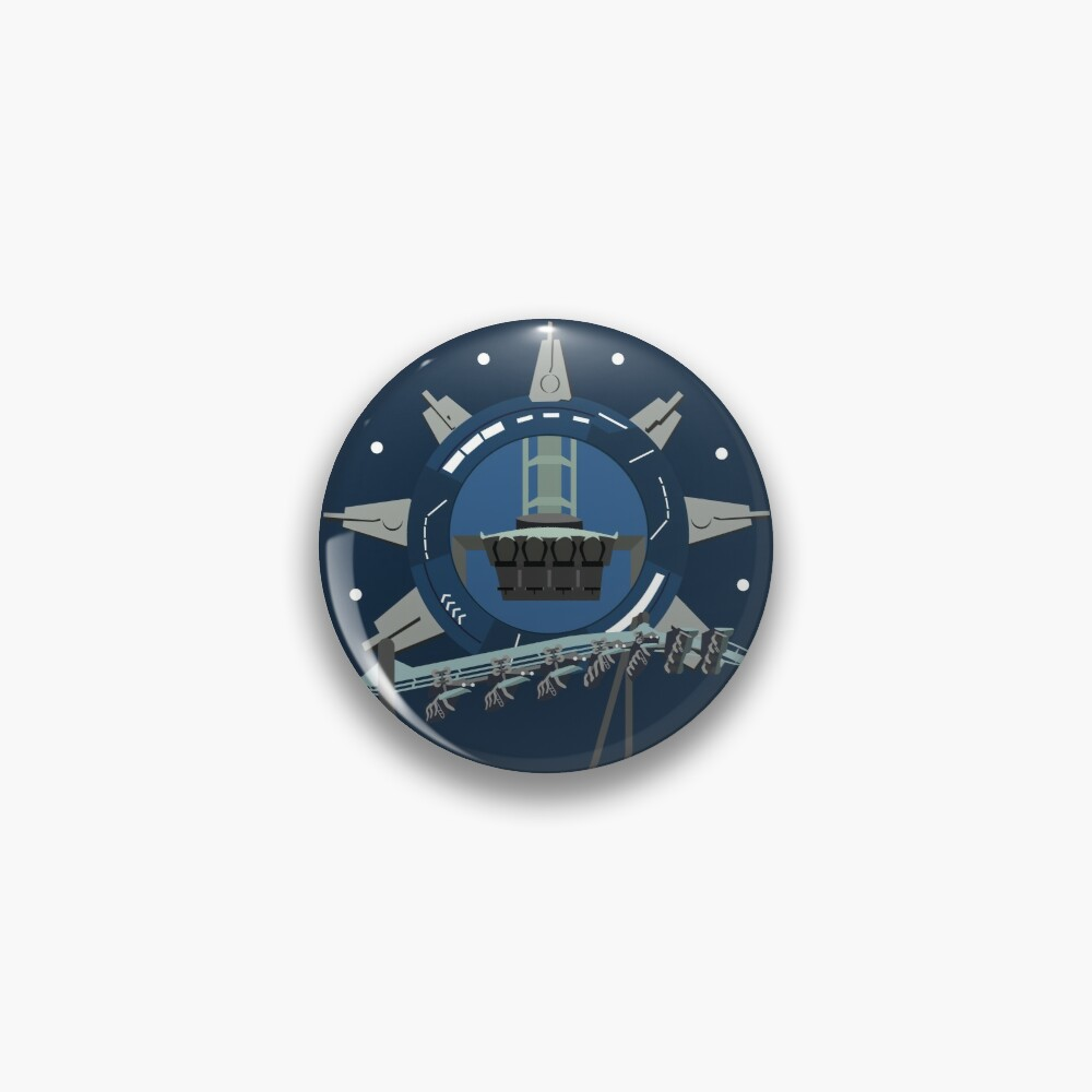 Galactic Space Rollercoaster Design Pin
