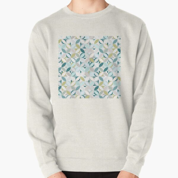 Pastel Modern Tile / Fresh Breeze Pullover Sweatshirt