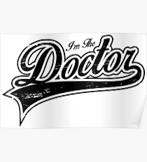 I'm The Doctor_Black Poster