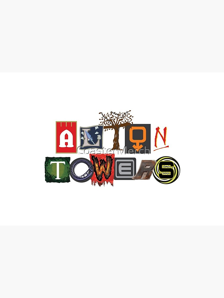Alton Towers Collage Design by CoasterMerch