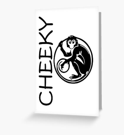 Cheeky Monkey Greeting Card