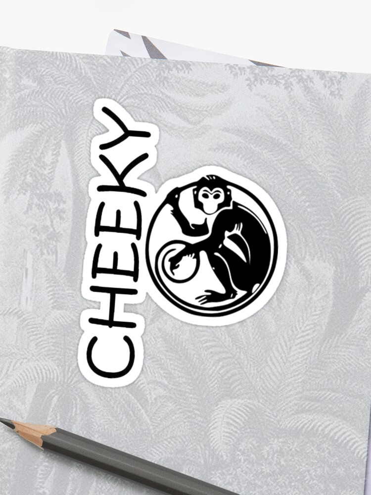 b5092fccac3c9 Cheeky Monkey Text and Primate Tattoo