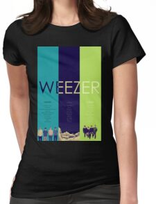Blue To Green: Weezer's First 3 Albums Womens Fitted T-Shirt