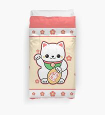 Kawaii Maneki Neko Duvet Cover