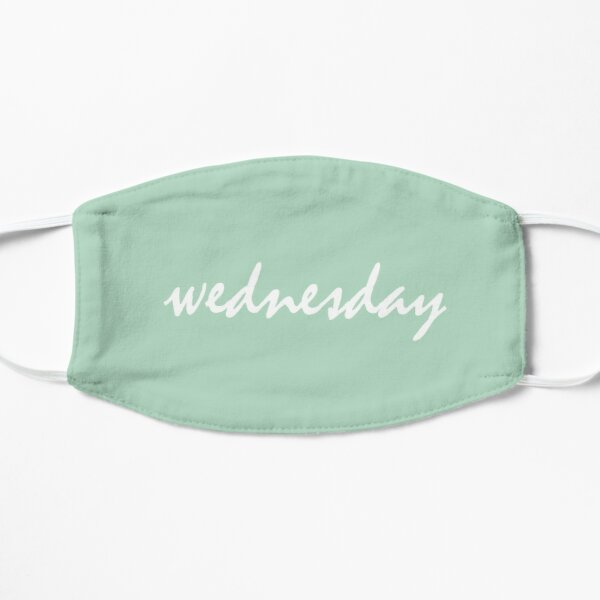 days of the week - mint wednesday Flat Mask