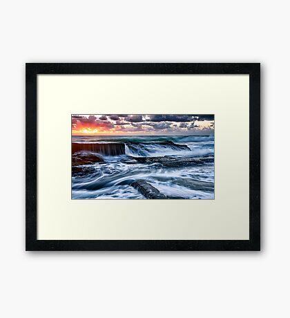 Turbulent Sunrise Framed Print