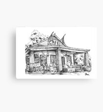 Whistle Stop cafe .......drawing  from Juliette GA Canvas Print