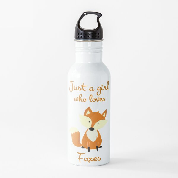 Just a girl who loves Foxes Fox Gift Design for Women and Girls Water Bottle