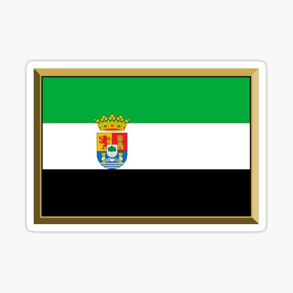 Regalos, pegatinas y productos de la bandera de Extremadura Pegatina