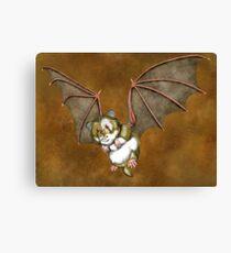 Beware the vampire hamster Canvas Print
