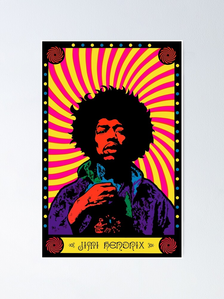 Alternate view of Psychedelic Jimi (HD) Poster