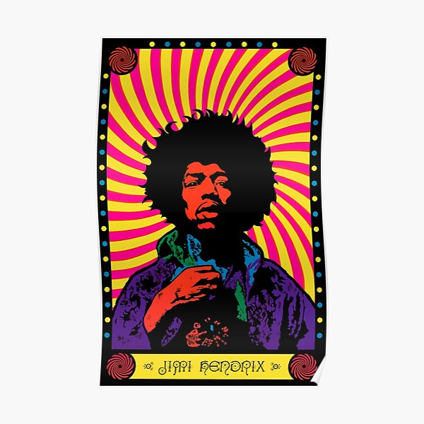 Psychedelic Jimi (HD) Poster