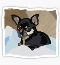 Chihuahua in Blankets Sticker