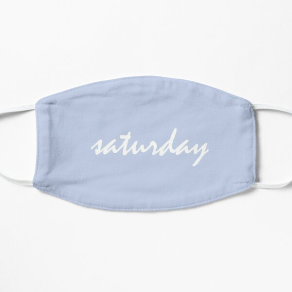 days of the week - sky blue saturday Flat Mask