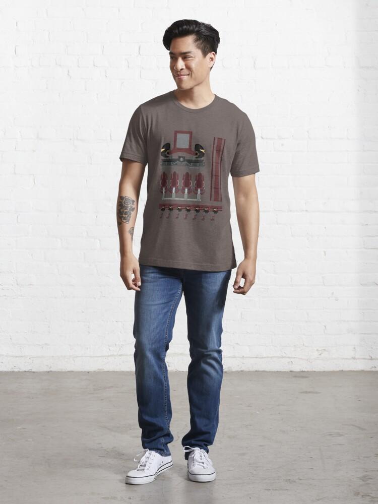 Alternate view of Nemesis Inferno Coaster Train Design Essential T-Shirt
