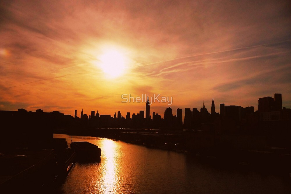 sunset on new york city by ShellyKay