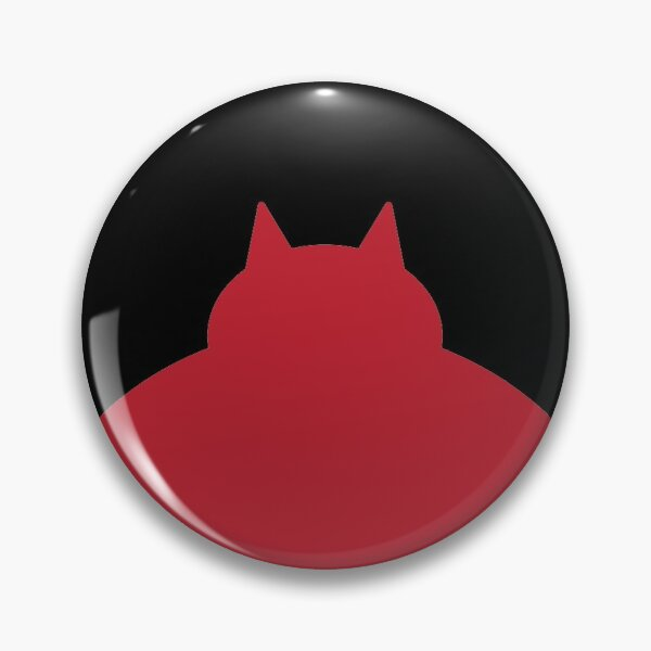 Fat Red Cat Pin