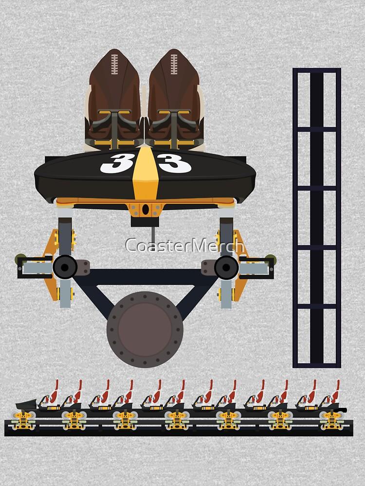 Steel Curtain Coaster Train Design - Kennywood by CoasterMerch