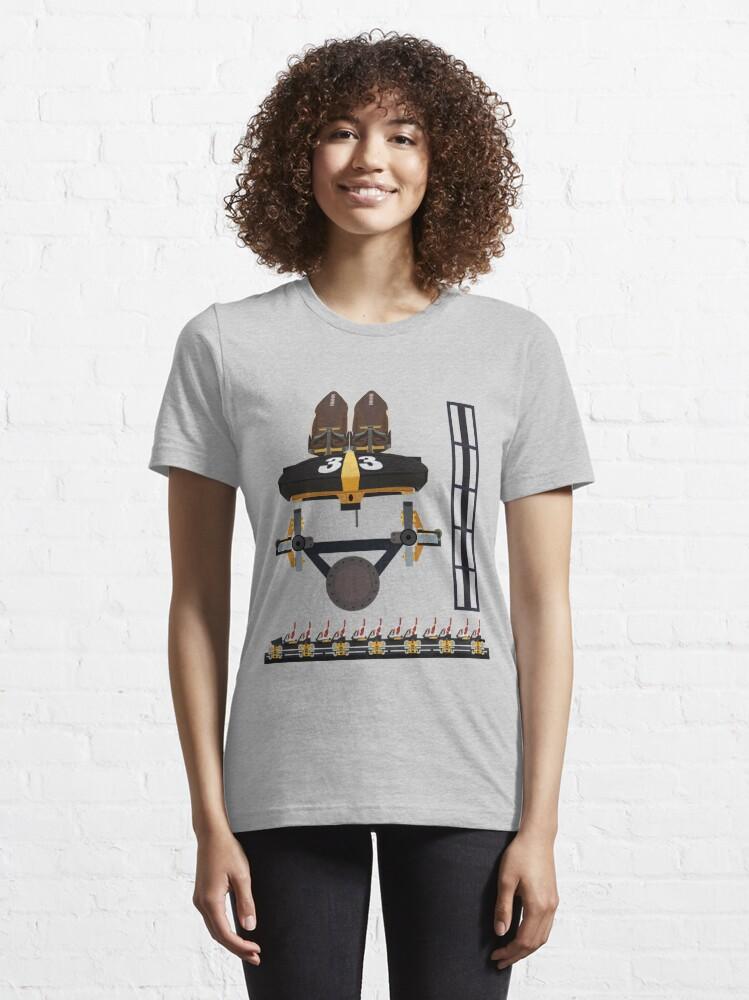 Alternate view of Steel Curtain Coaster Train Design - Kennywood Essential T-Shirt