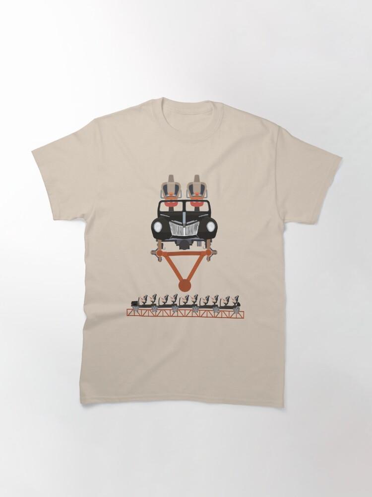 Alternate view of Copperhead Strike Coaster Train Design Classic T-Shirt